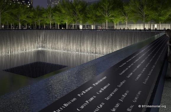 September 11 2001 9 11 10 year anniversary ground - Ground zero pools ...